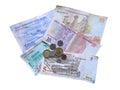 Turkish money lira isolated at white background Royalty Free Stock Photography
