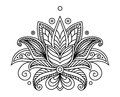Turkish or persian floral design paisley element in outline style for ornate Royalty Free Stock Images