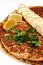 Turkish pizza Royalty Free Stock Photo