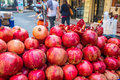 Turkish pomegranate juice istanbul typical makers in the streets Royalty Free Stock Images