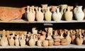 Turkish pottery (Cappadocia) Royalty Free Stock Photo