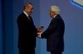 Turkish President Recep Tayyip Erdogan welcomes Greek President Prokopios Pavlopoulos
