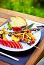Turkish Shish kebab Royalty Free Stock Photography