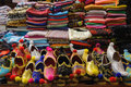Turkish shoe stall market with shoes at grand bazaar in istanbul Stock Photography