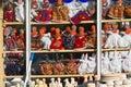 Turkish souvenir stall anatolia turkey Stock Images