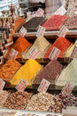 Turkish spices a colorful set of in the spice bazaar istanbul turkey Royalty Free Stock Photo