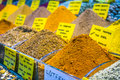 Turkish spices typical on sale in the markets in istanbul Royalty Free Stock Photography