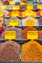 Turkish spices typical on sale in the markets in istanbul Stock Photography