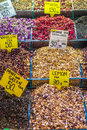 Turkish spices typical on sale in the markets in istanbul Stock Photo