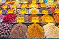 Turkish spices typical on sale in the markets in istanbul Royalty Free Stock Images