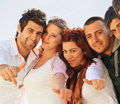 Turkish students with thumbs up Royalty Free Stock Images