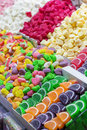 stock image of  Turkish sweets colorful delights and jujube in