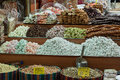 Turkish sweets a colorful set of in the spice bazaar istanbul turkey Stock Photo