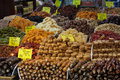Turkish sweets a colorful set of in the spice bazaar istanbul turkey Stock Images