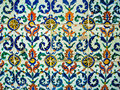 Turkish tile a close of a typical Stock Image