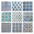 Turkish tiles collage Stock Images