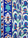 Turkish tiles photo of original can be found in the interior walls of rustempasa mosque in istanbul turkey Stock Photos