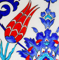 Turkish tiles - Tulip design Royalty Free Stock Image