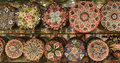 Turkish traditional handpainted pottery plates Royalty Free Stock Photo