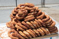 Turkish traditional sesame bagels simit Royalty Free Stock Photography