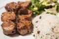 Turkish Traditional Skewer Meat Kebab Royalty Free Stock Photo