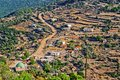 Turkish village top view of a in the mountains Royalty Free Stock Photography