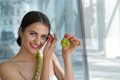 Turkish woman made decorations from the living grapes. Royalty Free Stock Photo