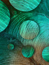 Turkuoise circles beauty turquoise abstract tree rings Royalty Free Stock Photo