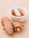 Turmeric for alternative medicine herbal supplements Royalty Free Stock Photo
