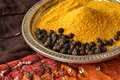 Turmeric and black pepper Royalty Free Stock Photo