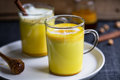 Turmeric latte Royalty Free Stock Photo