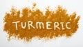Turmeric powder Royalty Free Stock Photo