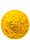 Turmeric powder v over white background Royalty Free Stock Image