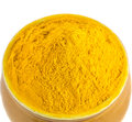 Turmeric powder vi over white background Stock Image