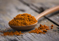 turmeric in wooden spoon Royalty Free Stock Photo