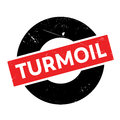 Turmoil rubber stamp Royalty Free Stock Photo