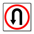 Turn back road sign Stock Photo