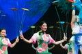 Turn dish-Acrobatic showBaixi Dream Night Royalty Free Stock Photo