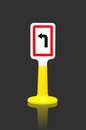 Turn left traffic sign toy Stock Photography