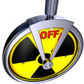 Turn off d illustration switch radioactivity Stock Image
