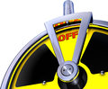 Turn off d rendering radioactivity Stock Photo