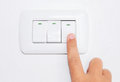 Turn off light switch Royalty Free Stock Photo