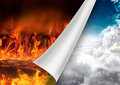 Turn page to heaven Royalty Free Stock Photo