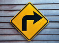 Turn right traffic sign Royalty Free Stock Photo