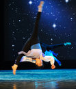 Turn a somersault vacated jump in december the department of dance of the students are for the annual graduation performance Royalty Free Stock Images