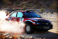 Turning Rally Car Stock Images