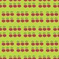 Turnip Field Seamless Vector Pattern. Vegetable background.
