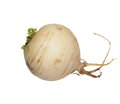 Turnip with leaves isolated on white Royalty Free Stock Photo