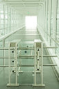 Turnstile modern security barrier close up photo Royalty Free Stock Photos