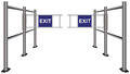 Turnstile pointing exit Stock Images